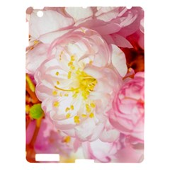 Pink Flowering Almond Flowers Apple Ipad 3/4 Hardshell Case by FunnyCow