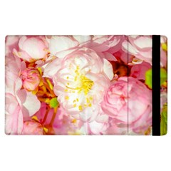 Pink Flowering Almond Flowers Apple Ipad 3/4 Flip Case by FunnyCow