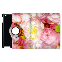 Pink Flowering Almond Flowers Apple Ipad 3/4 Flip 360 Case by FunnyCow