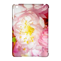Pink Flowering Almond Flowers Apple Ipad Mini Hardshell Case (compatible With Smart Cover) by FunnyCow