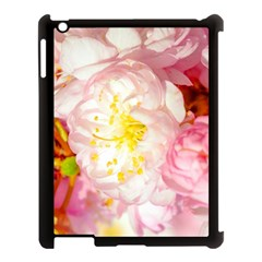 Pink Flowering Almond Flowers Apple Ipad 3/4 Case (black) by FunnyCow