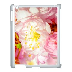 Pink Flowering Almond Flowers Apple Ipad 3/4 Case (white) by FunnyCow