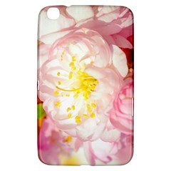 Pink Flowering Almond Flowers Samsung Galaxy Tab 3 (8 ) T3100 Hardshell Case  by FunnyCow