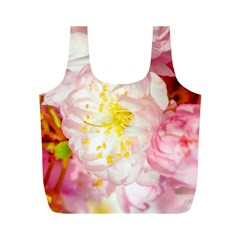 Pink Flowering Almond Flowers Full Print Recycle Bags (m)  by FunnyCow