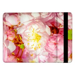 Pink Flowering Almond Flowers Samsung Galaxy Tab Pro 12 2  Flip Case by FunnyCow