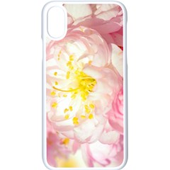 Pink Flowering Almond Flowers Apple Iphone X Seamless Case (white) by FunnyCow