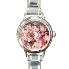 Beautiful Flowering Almond Round Italian Charm Watch by FunnyCow