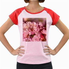 Beautiful Flowering Almond Women s Cap Sleeve T Shirt by FunnyCow
