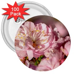Beautiful Flowering Almond 3  Buttons (100 Pack)  by FunnyCow