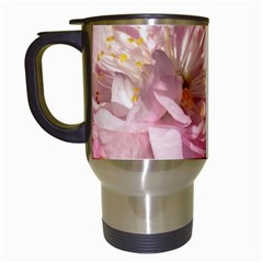 Beautiful Flowering Almond Travel Mugs (white) by FunnyCow