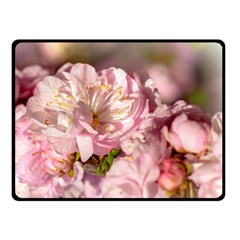 Beautiful Flowering Almond Double Sided Fleece Blanket (small)  by FunnyCow