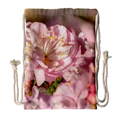 Beautiful Flowering Almond Drawstring Bag (large) by FunnyCow