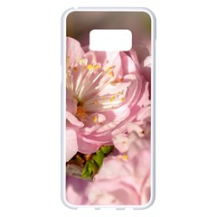 Beautiful Flowering Almond Samsung Galaxy S8 Plus White Seamless Case by FunnyCow