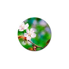Sakura Flowers On Green Golf Ball Marker (10 Pack) by FunnyCow