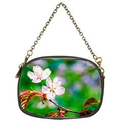 Sakura Flowers On Green Chain Purses (one Side)  by FunnyCow