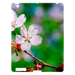 Sakura Flowers On Green Apple Ipad 3/4 Hardshell Case by FunnyCow