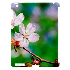 Sakura Flowers On Green Apple Ipad 3/4 Hardshell Case (compatible With Smart Cover) by FunnyCow