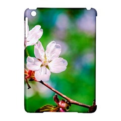 Sakura Flowers On Green Apple Ipad Mini Hardshell Case (compatible With Smart Cover) by FunnyCow