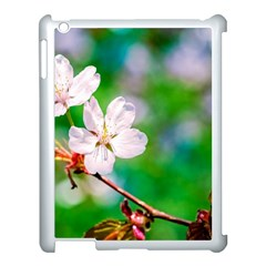 Sakura Flowers On Green Apple Ipad 3/4 Case (white) by FunnyCow