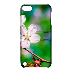 Sakura Flowers On Green Apple Ipod Touch 5 Hardshell Case With Stand by FunnyCow
