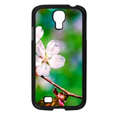 Sakura Flowers On Green Samsung Galaxy S4 I9500/ I9505 Case (black) by FunnyCow