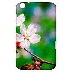 Sakura Flowers On Green Samsung Galaxy Tab 3 (8 ) T3100 Hardshell Case  by FunnyCow