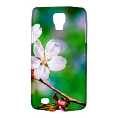 Sakura Flowers On Green Samsung Galaxy S4 Active (i9295) Hardshell Case by FunnyCow