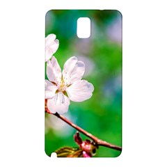 Sakura Flowers On Green Samsung Galaxy Note 3 N9005 Hardshell Back Case by FunnyCow