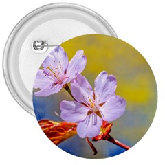 Sakura Flowers On Yellow 3  Buttons by FunnyCow