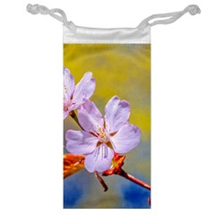Sakura Flowers On Yellow Jewelry Bags by FunnyCow