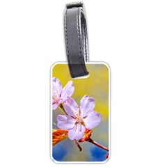 Sakura Flowers On Yellow Luggage Tags (one Side)  by FunnyCow