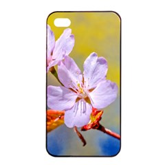 Sakura Flowers On Yellow Apple Iphone 4/4s Seamless Case (black) by FunnyCow
