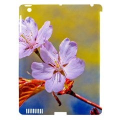 Sakura Flowers On Yellow Apple Ipad 3/4 Hardshell Case (compatible With Smart Cover) by FunnyCow