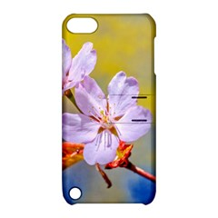 Sakura Flowers On Yellow Apple Ipod Touch 5 Hardshell Case With Stand by FunnyCow