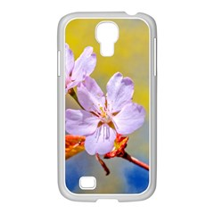 Sakura Flowers On Yellow Samsung Galaxy S4 I9500/ I9505 Case (white) by FunnyCow