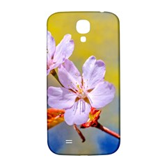 Sakura Flowers On Yellow Samsung Galaxy S4 I9500/i9505  Hardshell Back Case by FunnyCow