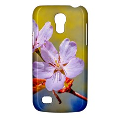 Sakura Flowers On Yellow Samsung Galaxy S4 Mini (gt I9190) Hardshell Case  by FunnyCow