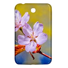 Sakura Flowers On Yellow Samsung Galaxy Tab 3 (7 ) P3200 Hardshell Case  by FunnyCow