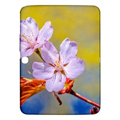 Sakura Flowers On Yellow Samsung Galaxy Tab 3 (10 1 ) P5200 Hardshell Case  by FunnyCow