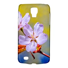 Sakura Flowers On Yellow Samsung Galaxy S4 Active (i9295) Hardshell Case by FunnyCow
