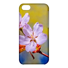 Sakura Flowers On Yellow Apple Iphone 5c Hardshell Case by FunnyCow
