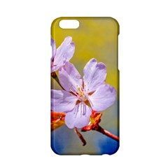 Sakura Flowers On Yellow Apple Iphone 6/6s Hardshell Case by FunnyCow
