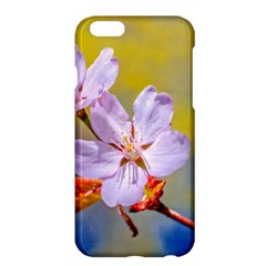Sakura Flowers On Yellow Apple Iphone 6 Plus/6s Plus Hardshell Case by FunnyCow
