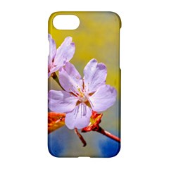 Sakura Flowers On Yellow Apple Iphone 7 Hardshell Case by FunnyCow