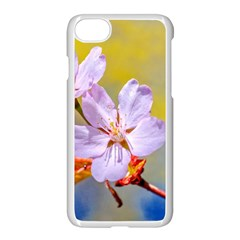 Sakura Flowers On Yellow Apple Iphone 8 Seamless Case (white) by FunnyCow