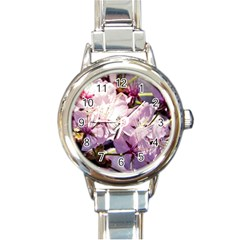 Sakura In The Shade Round Italian Charm Watch by FunnyCow