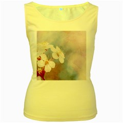 Pink Mist Of Sakura Women s Yellow Tank Top by FunnyCow
