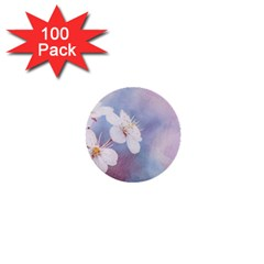 Pink Mist Of Sakura 1  Mini Buttons (100 Pack)  by FunnyCow