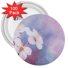 Pink Mist Of Sakura 3  Buttons (100 Pack)  by FunnyCow