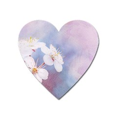 Pink Mist Of Sakura Heart Magnet by FunnyCow